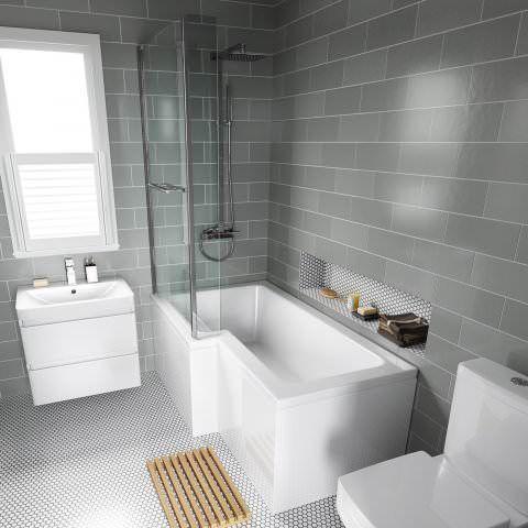 Pin By Dan On Home Decor Grey Bathroom Tiles Gray Bathroom Walls Tile Bathroom