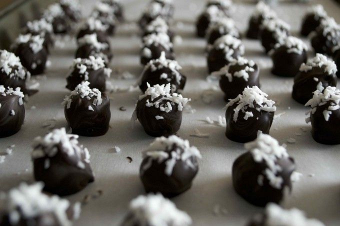 Chocolate Covered Coconut Snowballs: Gluten & grain free holiday treats - Ant & Anise