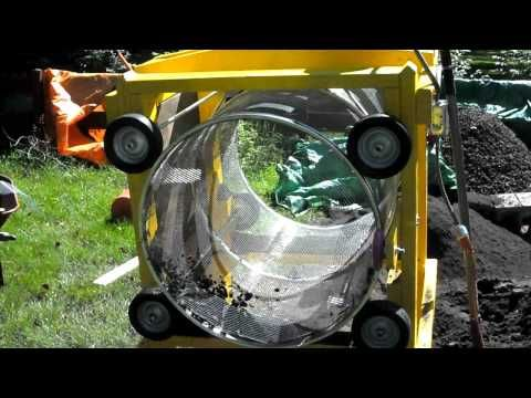 Slightly Over Engineered Homemade Gravel Trommel Worm Composting Compost Tumbler Compost