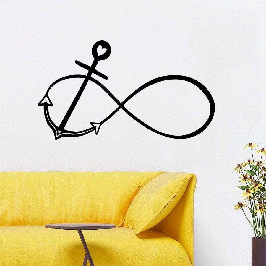 Anchor Wall Decals Marine Interior Design Home Infinity Sign Vinyl ...