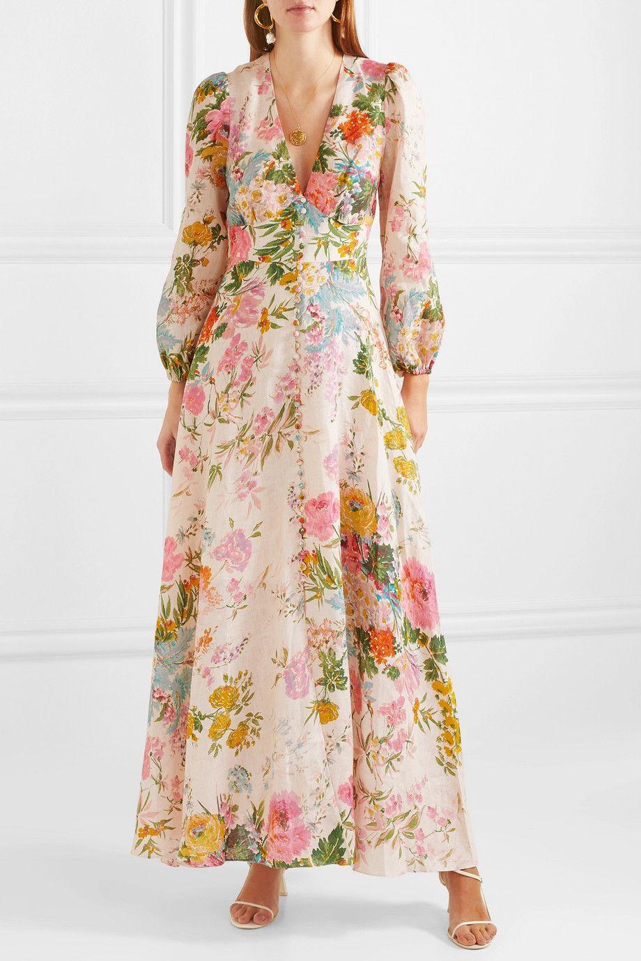 125a52f5b4a75 Zimmermann - Heathers floral-print linen maxi dress in 2019 | Modles ...