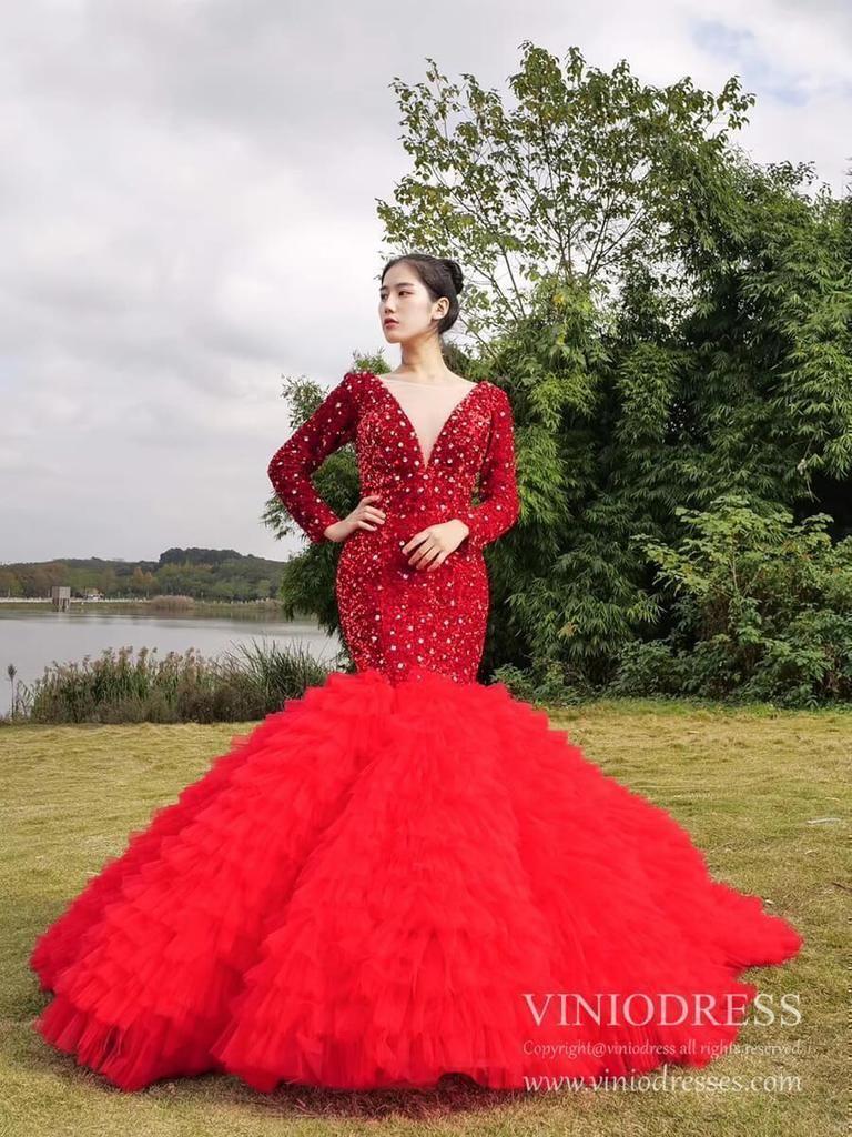 Shimmering Dark Red Trumpet Prom Dresses Long Sleeve Pageant Dress Fd1986 Prom Dresses Prom Dresses Long With Sleeves Trumpet Prom Dress [ 1024 x 768 Pixel ]