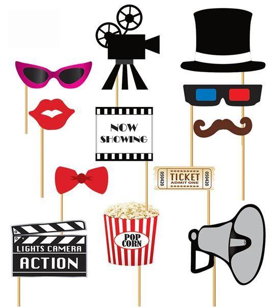 Compra tu Accesorios photocall palito cine (12) online barato al mejor precio en 24h en Fiestafacil.com