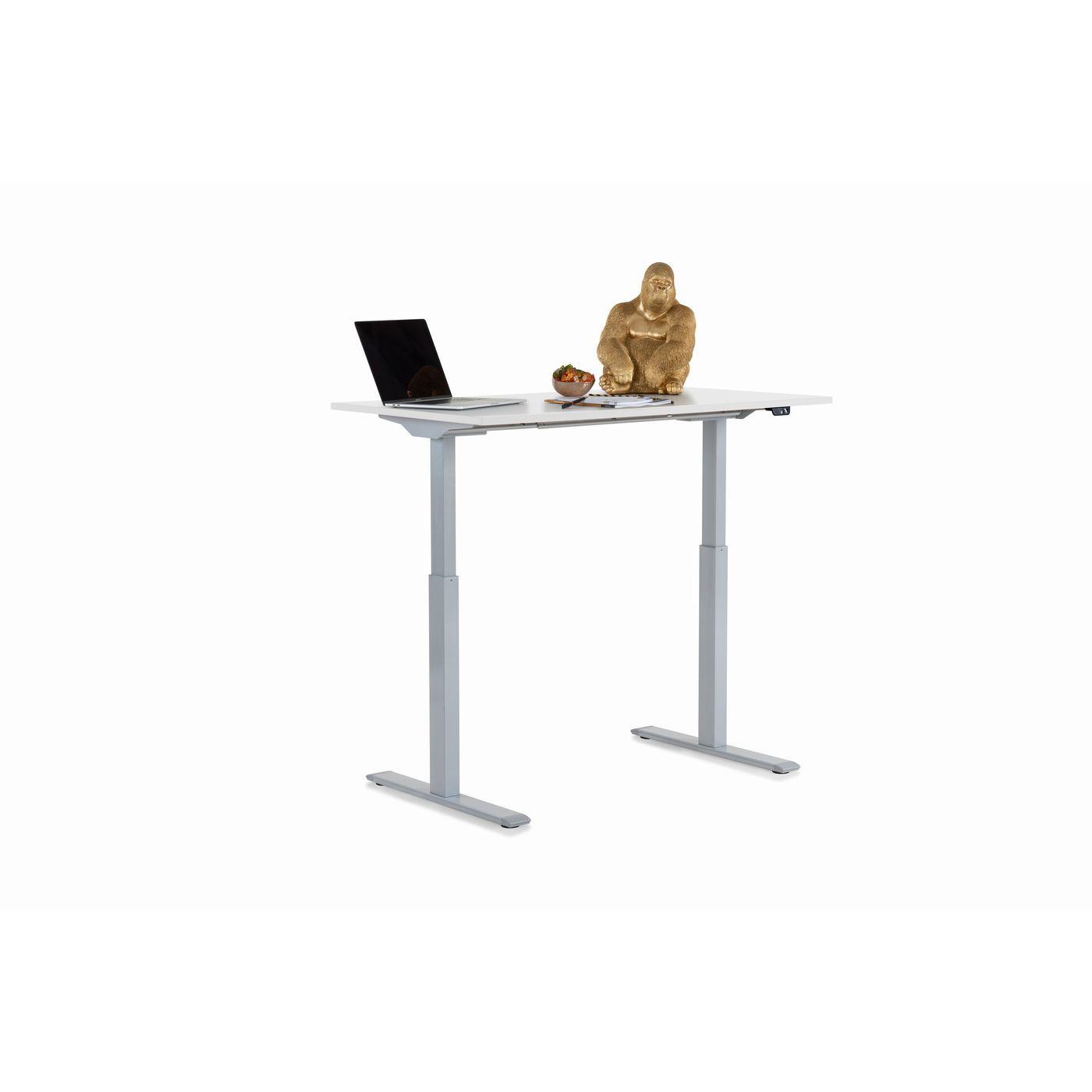Schreibtisch Office Smart Grau Weiss 120x70 Kare Online Gmbh In 2021 Tischplatten Weiss Grau