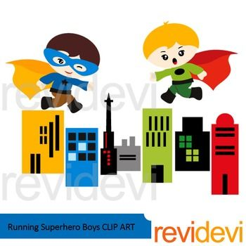 Running superhero boys clip art voltagebd Image collections