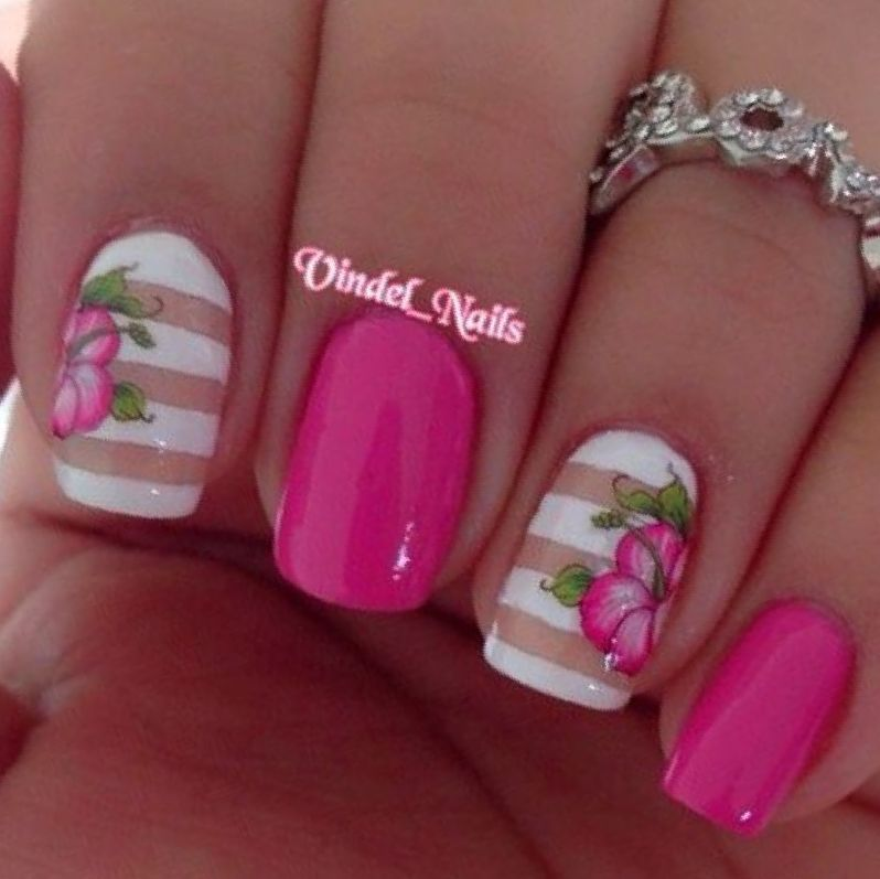 Image Result For Pink And White Nail Art Ideas Nail Art