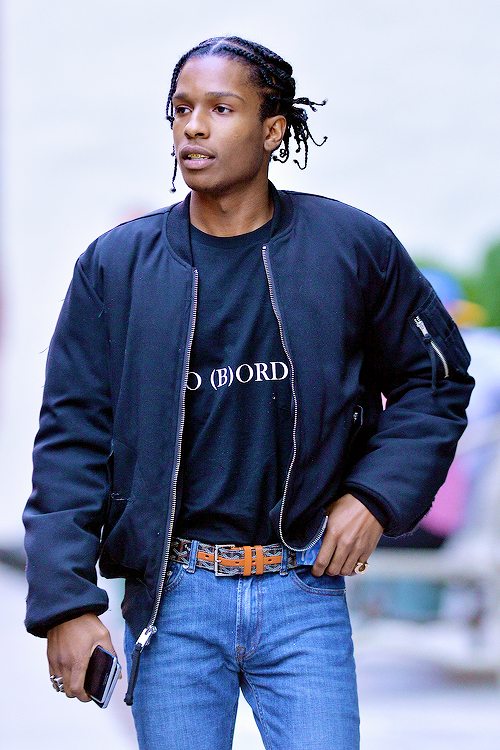 celebritiesofcolor: ASAP Rocky out in NYC