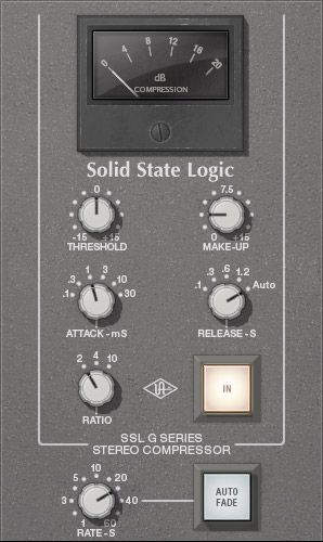 Ssl 4000 G Bus Compressor Collection Uad Audio Plugins Universal Audio Recording Studio Equipment Compressor Home Recording Studio Equipment