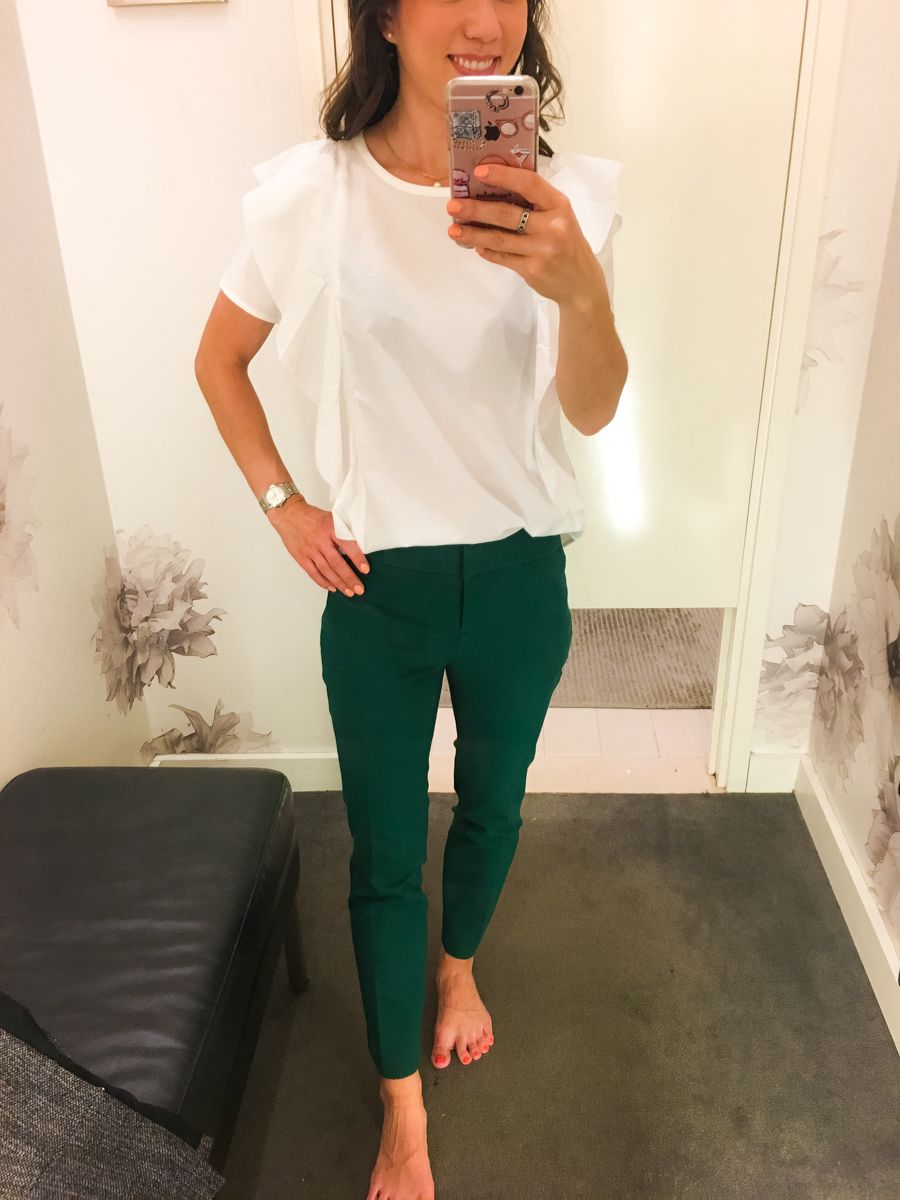 7d261da214 Ann Taylor & LOFT work outfits | Petite friendly fit reviews | Work outfit  inspiration | Classic petite fashion and style blog | Devin slim fit ankle  pants ...