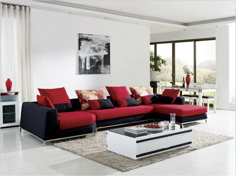 Modern latest design fabric wooden cheap l shape sofa for Sofas en l modernos