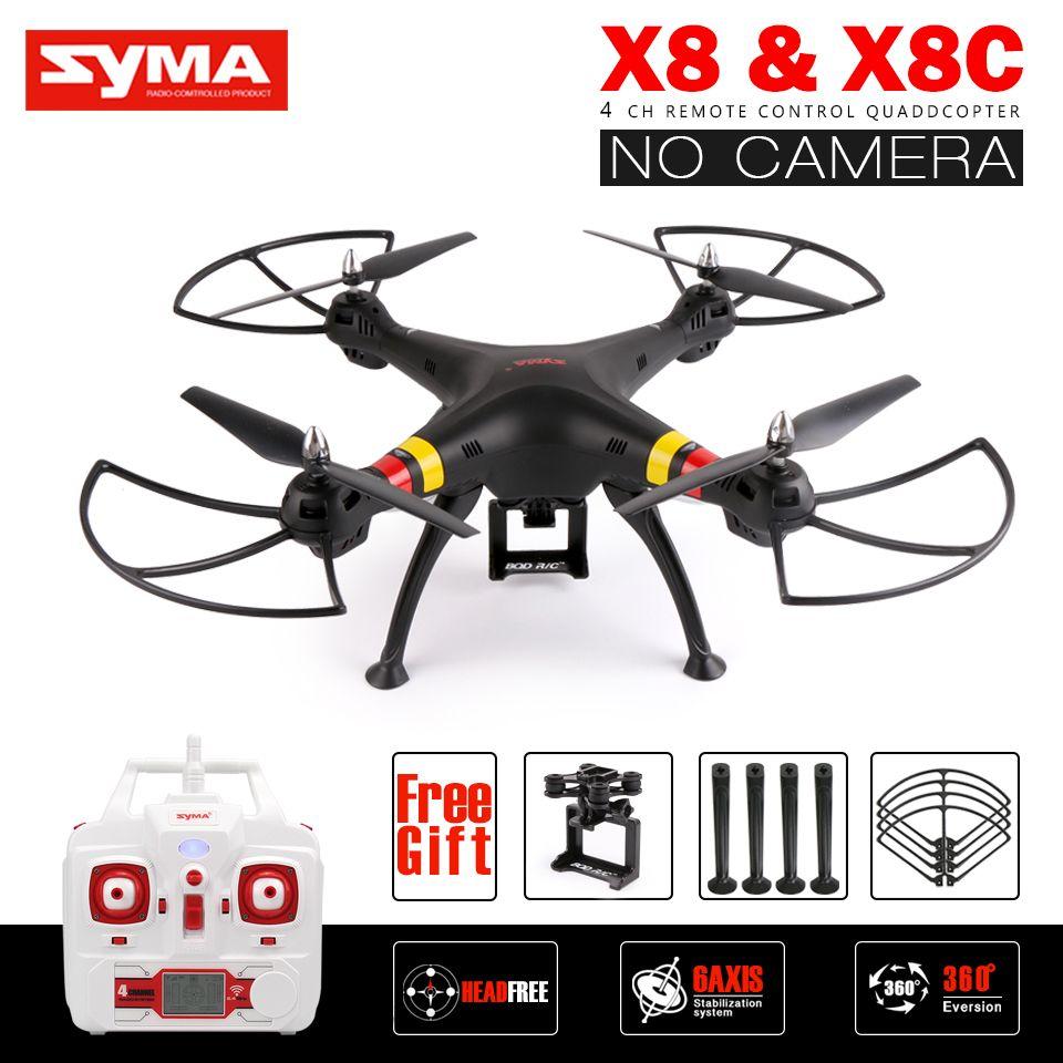 Syma x8 x8c rc drone keine kamera 2,4g 6 achse rtf rc hubschrauber quadcopter passen gopro/xiaoyi/sjcam vs syma x8w x8hg x8hw x8g