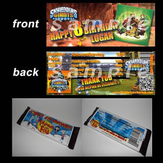 SKYLANDERS GIANTS CANDY BAR WRAPPERS