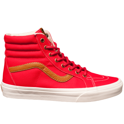 6fc1a42669fc26 VANS COATED CANVAS SK8-HI REISSUE IN RED