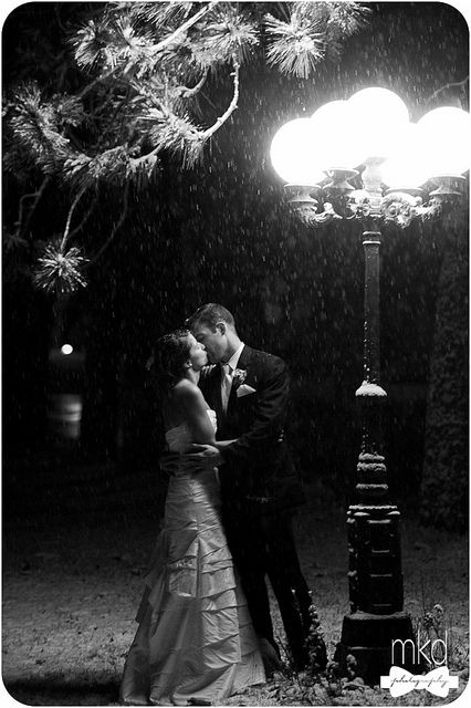 Kissing in the snow under an old fashioned street lamp ...Old Black And White Romantic Photos