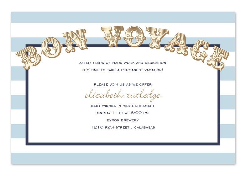 Vibrant Voyageu0027 by Invitation Consultants Hidden Kitchen - invitation templates for farewell party
