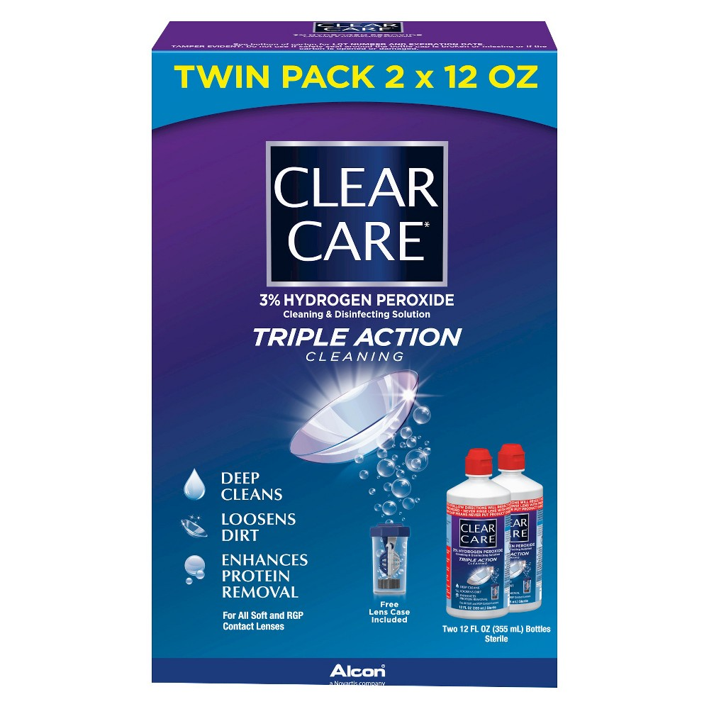 Clear Care Triple Action Cleaning And Disinfecting Solution 12oz Care Cleaning Solutions