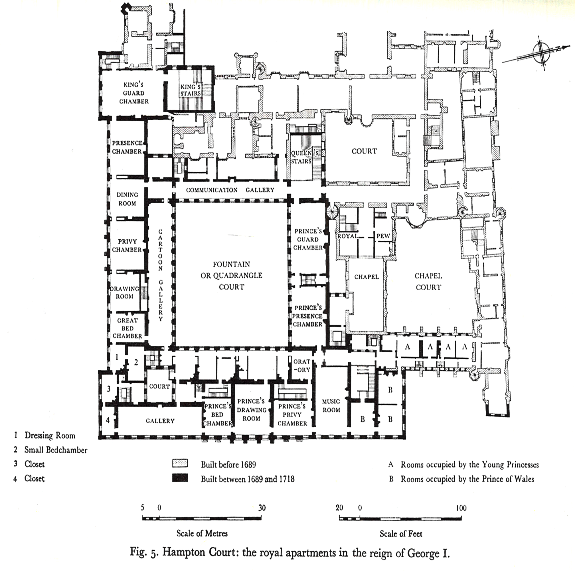 Hampton Court Palace First Floor Plan Under George I Circa 1720 Mansion Floor Plan Castle Floor Plan Vintage House Plans