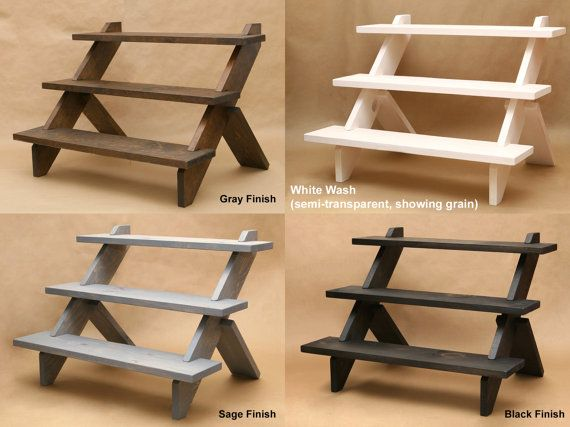 3 Tier Display Shelf Display Riser Store Display By Usaveco Tiered Display Shelves Display Risers Craft Table Display