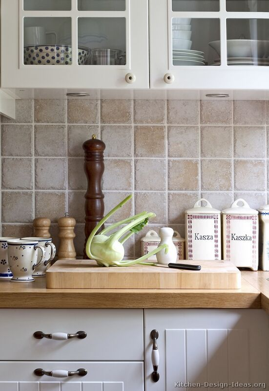 Tumbled Travertine Backsplash (Kitchen-Design-Ideas.org) | For the ...