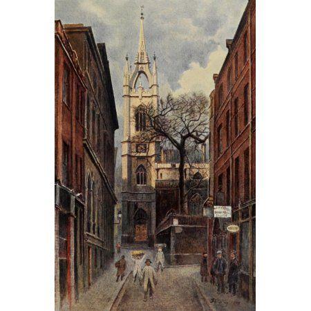 Relics & Memorials of London 1910 St Dunstans Canvas Art - James Ogilvy (18 x 24)