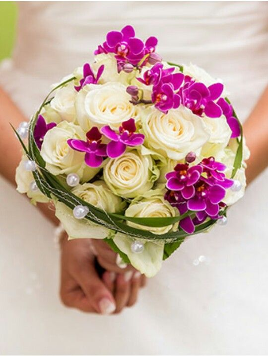 Rosen  Orchideen  Brautstrau  Wedding Flowers Bridal