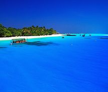 Inspiring picture beach, blue, bora bora, paradise. Resolution: 500x325 px. Find the picture to your taste!
