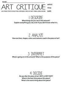 How to write an art critique essay