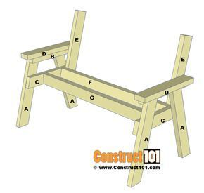 Photo of 2×4 Bench Plans – Step-By-Step – Material List – Construct101