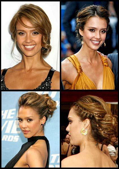 peinados-recogidos-jessica-alba peinados Pinterest Hair style