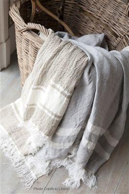 Libeco The Belgian Towel 100 Linen Fouta Bath Towel 43in X 71in 109 2cm X 180 3cm In Flax Stripe Serviette De Plage Linge De Maison Maison