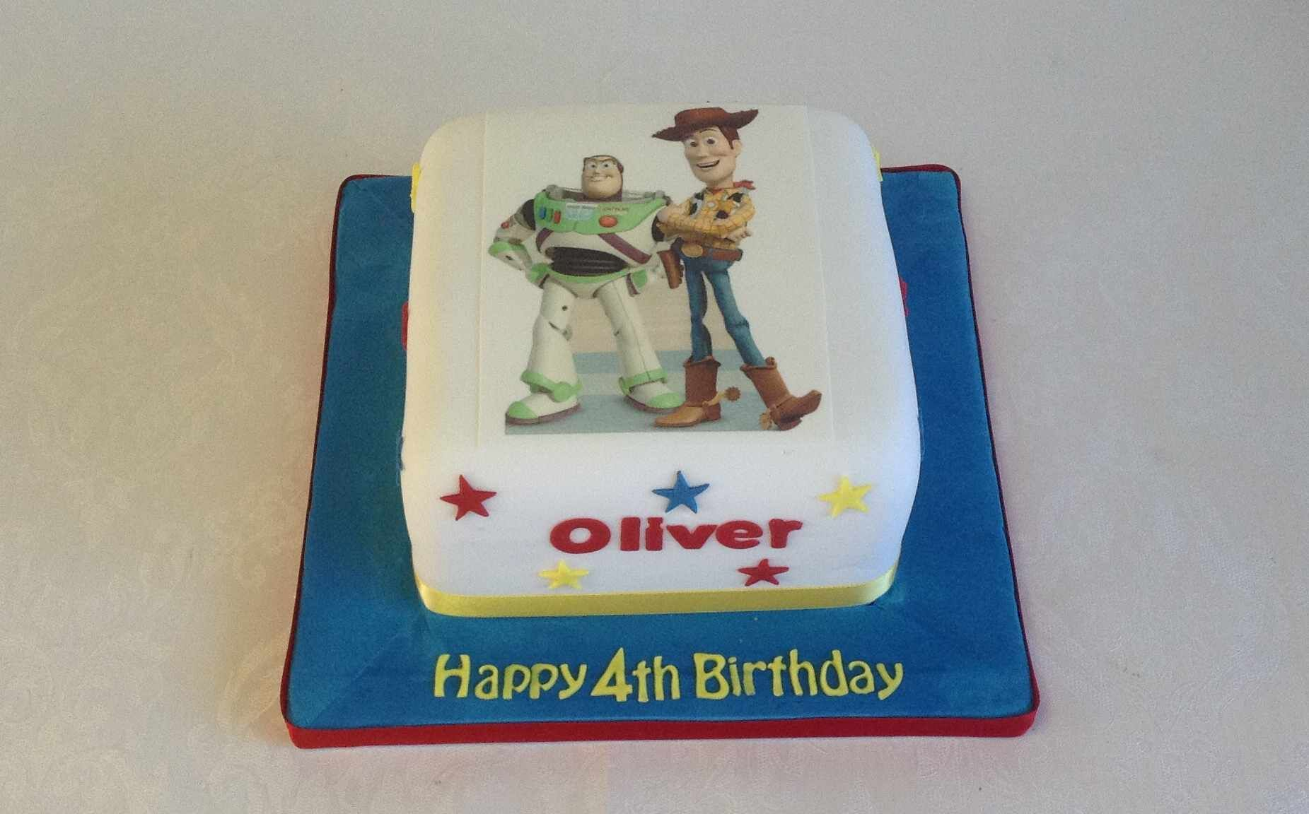Buzz And Woody Edible Photo Cake Jpg 1851x1152 Toy Story Publix