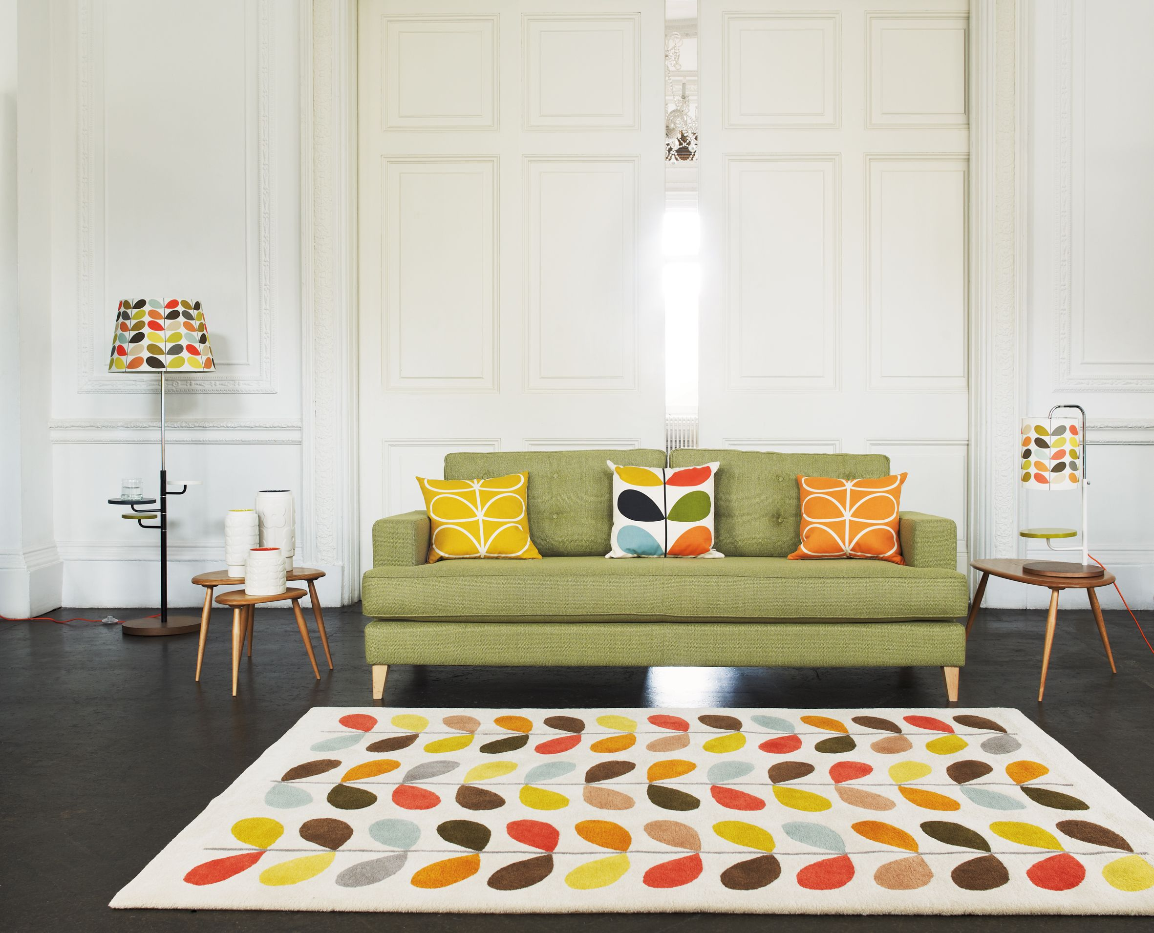 Mistral Sofa with Orla Kiely accessories. All available at Heal\'s ...