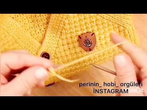 25 – EN ÇOK İZLENEN TUNUS İŞİ İKİ RENKLİ DÜZ ÖRGÜ MODELİ #Tunisian #crochet #English #subtitle # örgü