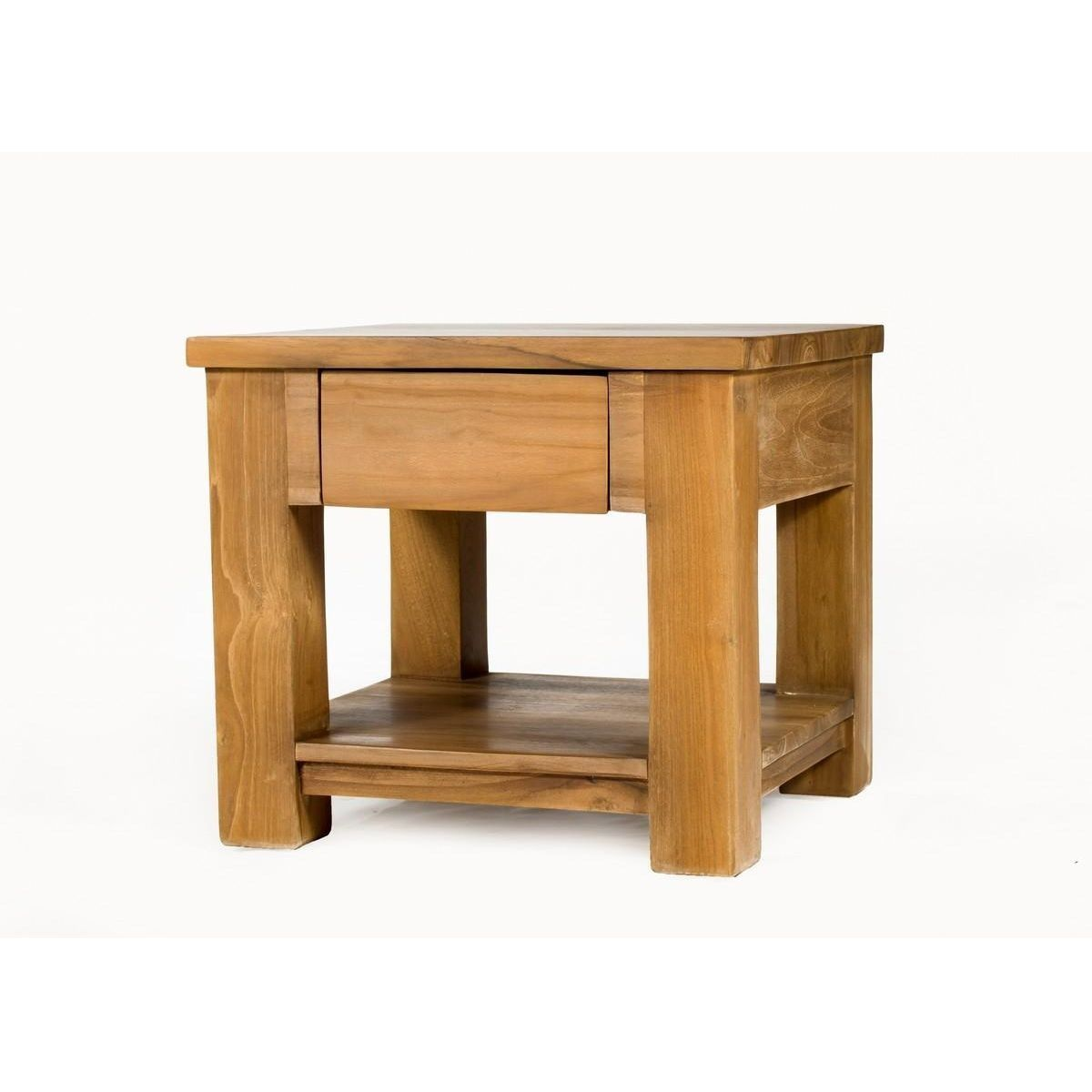 MASSIF TECK TABLE D/'APPOINT Wild 55 cm Baumscheibe table basse avec années Anneaux