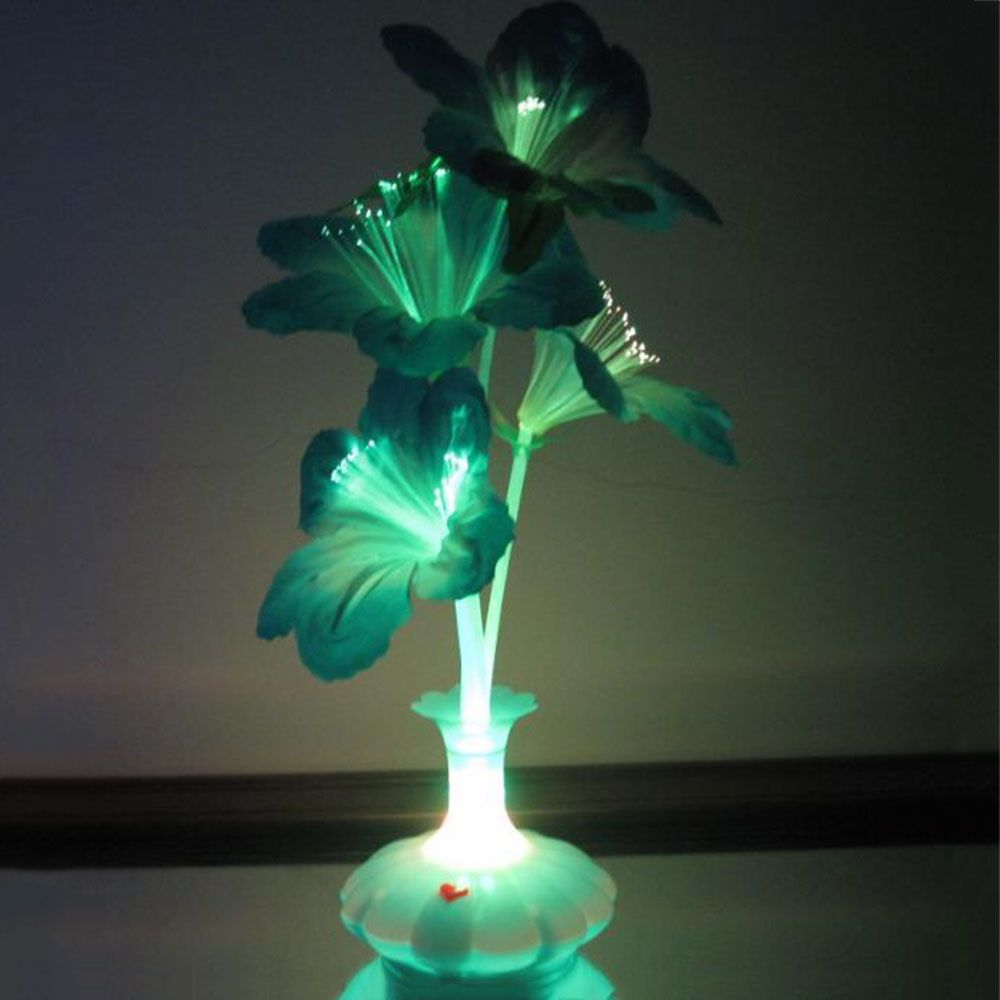 Led Fiber Flower Kapok Vase Optical Fiber Lamp Blossom Home Stage Decoration Affiliate День святого валентина Украшения Освещение