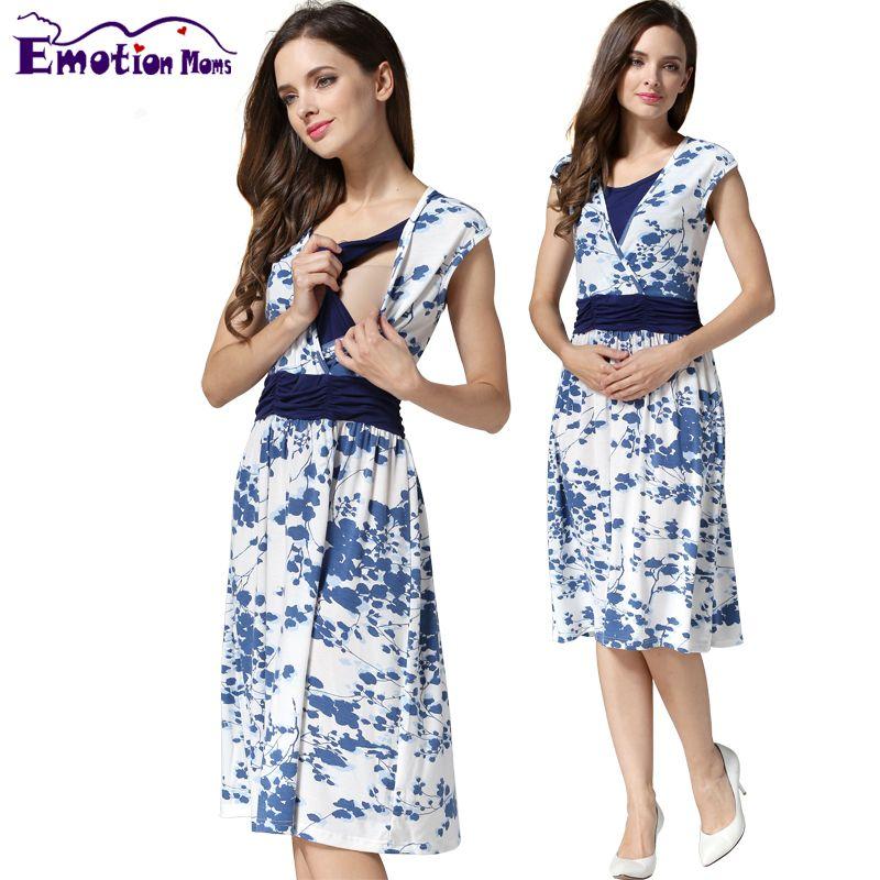 177ad043e Encontrar Más Vestidos Información acerca de Emoción Mamás Ropa De verano  de Maternidad vestido de embarazada Lactancia materna Ropa De Enfermería  para las ...