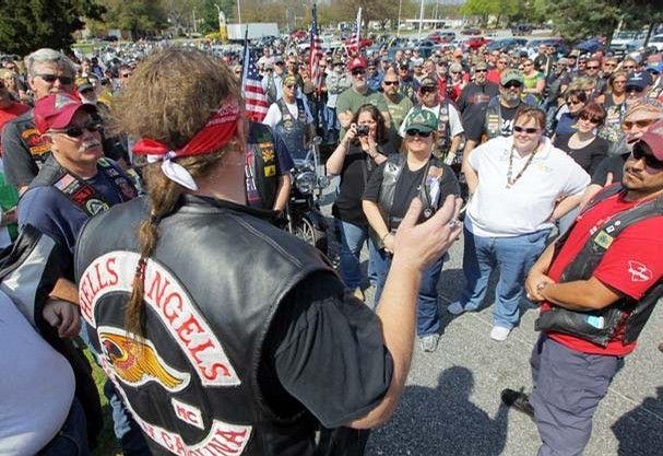 Hells Angels - South Carolina member speaks to Patriot Guard