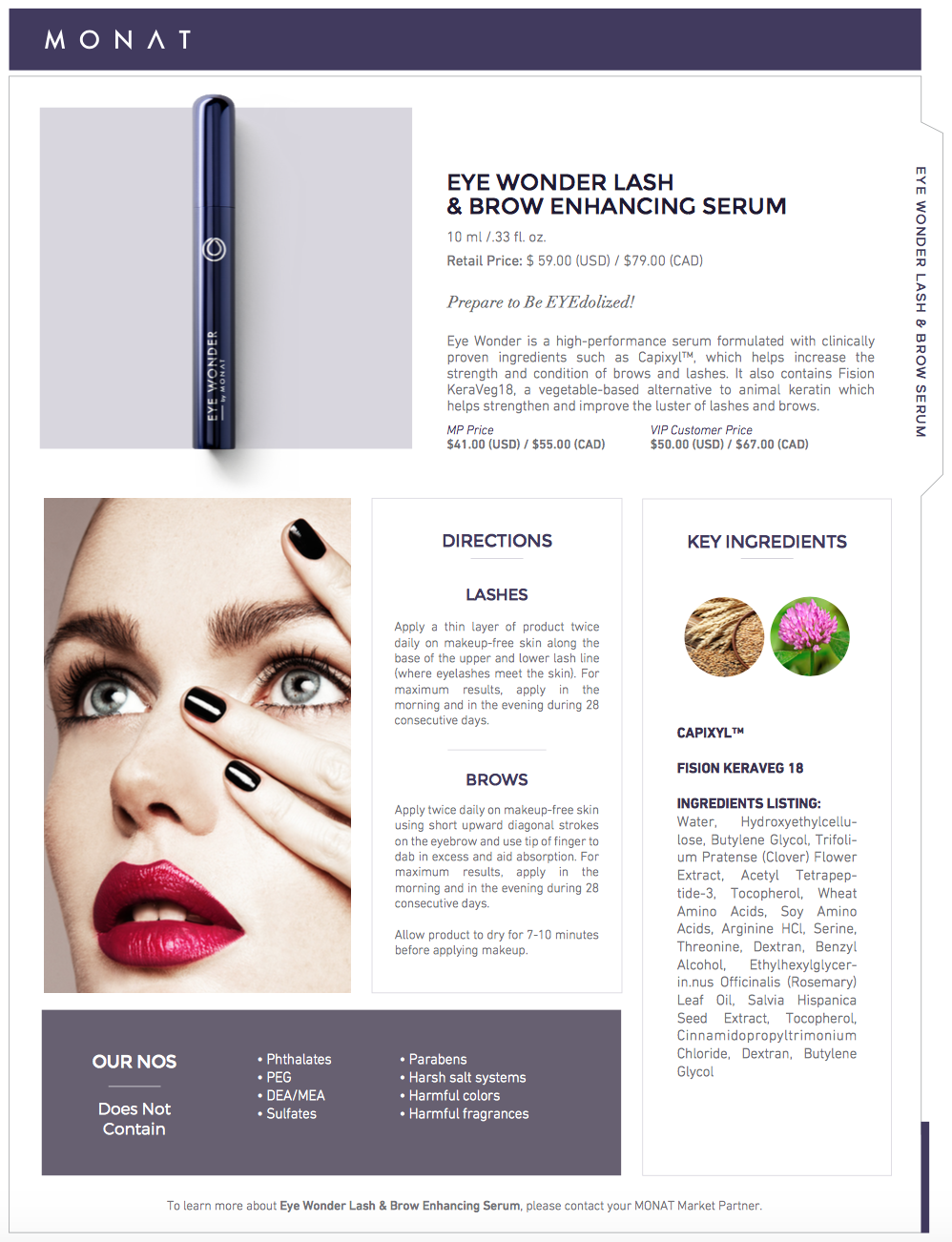cf60b9ff824 Eye Wonder is a high-performance serum which helps increase the strength  and luster of