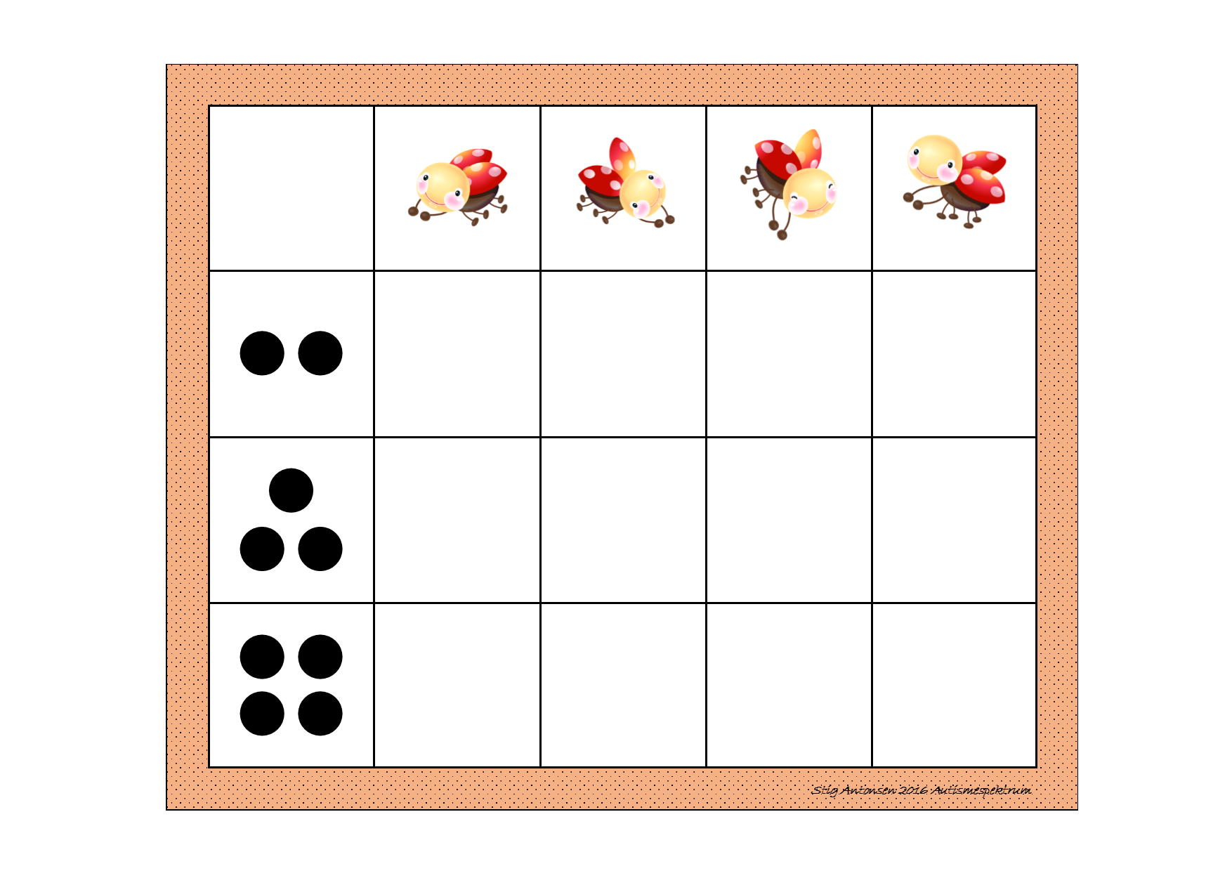 Board For The Matrix Counting Game Find The Belonging