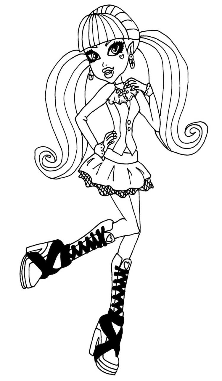 beautiful draculaura coloring page - Draculaura Coloring Pages