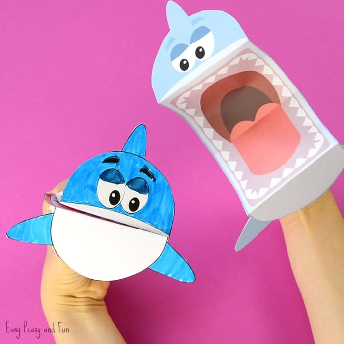 Printable Shark Puppet (With Images)
