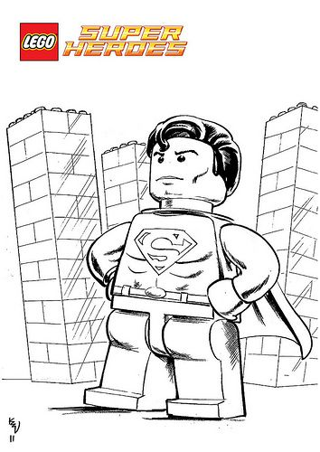 lego superman printable coloring