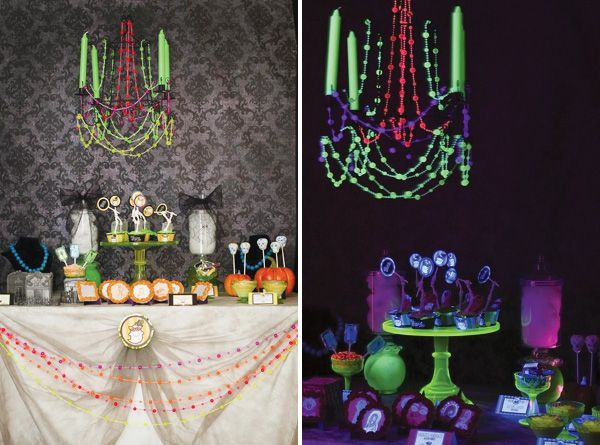 Let the Ghoul Times Roll Halloween Party Halloween table - how to decorate for halloween party
