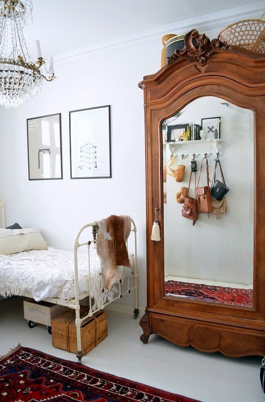 mirrored armoire #home #bedroom #armoire www.vainpursuits.com ...