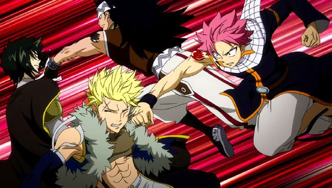 Natsu And Gajeel VS Sting and Rogue | Anime Moments | Fairy tail