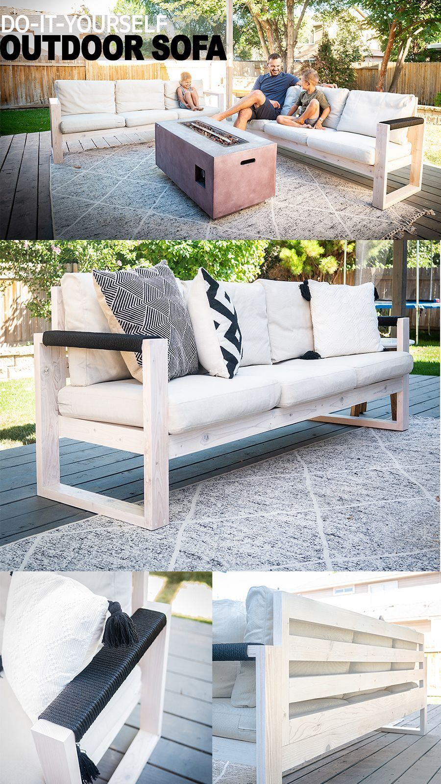 diy ikea outdoor sofa in diesem