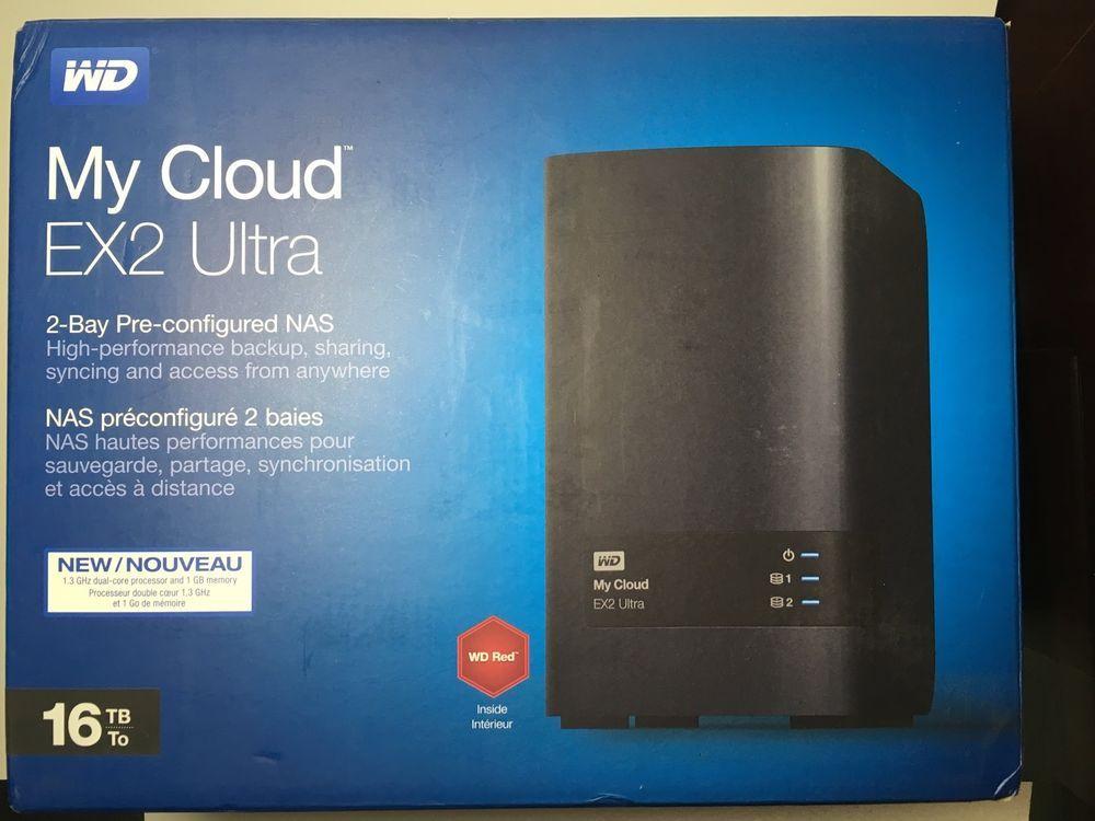 Western Digital Wd 16tb My Cloud Ex2 Ultra Nas 8tbx2 Wdbvbz0160jch 718037845050 Westerndigital Nas Network Attached Storage Network Attached Storage Nas Hdd