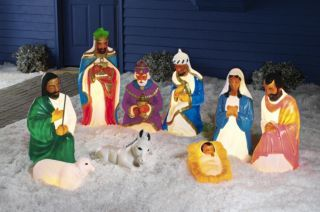 9-pc. African American Nativity Set | Christmas yard ...