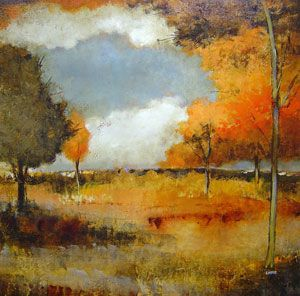 Jennifer  Lister - Autumn Field II - 38 x 38