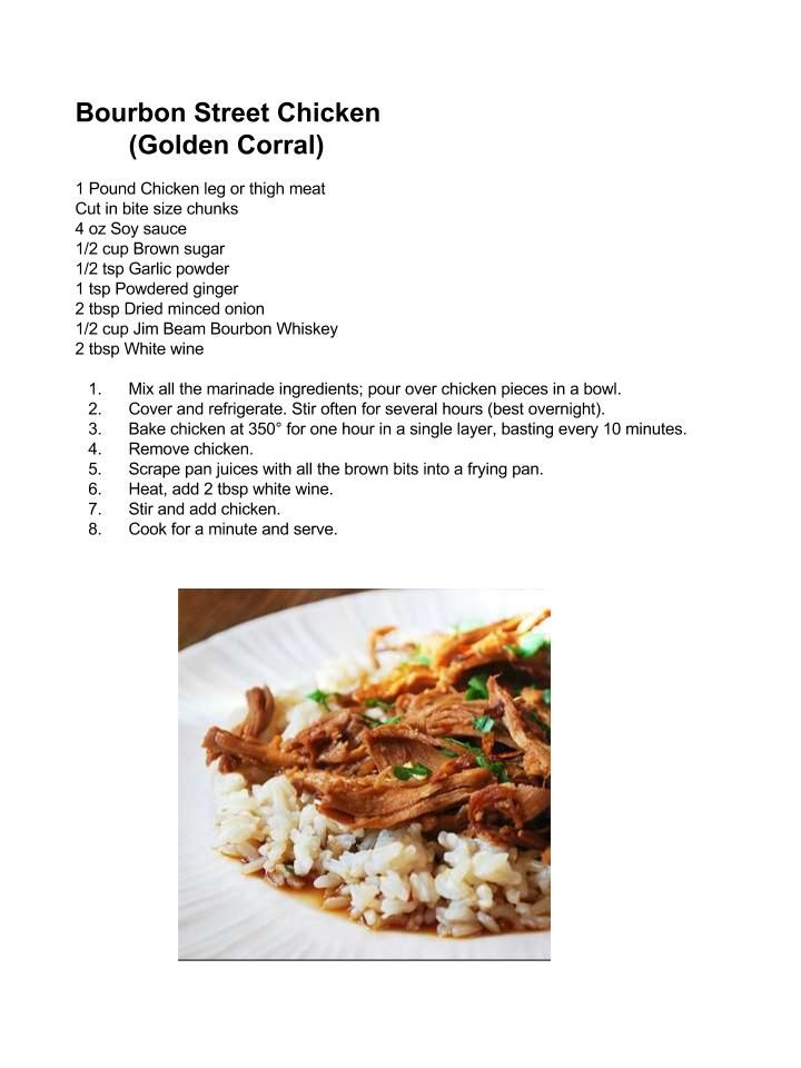 Golden Corral Bourbon Street Chicken Copycat Chicken And Turkey
